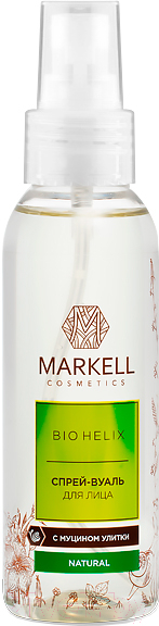 Купить Спрей для лица Markell, Bio-Helix вуаль с муцином улитки (100мл), Беларусь