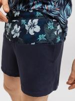Шорты спортивные Mark Formelle 131046 (р.78-182, гавайские цветы на темно-синем/темно-синий) -