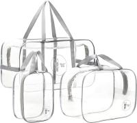 Комплект сумок в роддом Roxy-Kids RKB-001 (3шт, серый) -