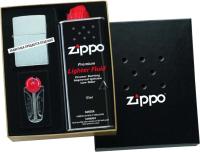 Комплект аксессуаров для зажигалки Zippo 50R (кремни, топливо 125мл, место для широкой зажигалки) -