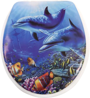 Сиденье для унитаза АкваЛиния SK-06013 (подводный мир) -