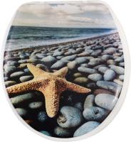 Сиденье для унитаза АкваЛиния SK-06017 (морская звезда) -