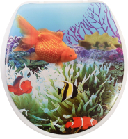 Сиденье для унитаза АкваЛиния SK-06021 (золотая рыбка) -