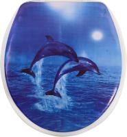 Сиденье для унитаза АкваЛиния SK-06048 (морские акробаты) -