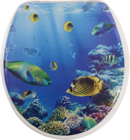 Сиденье для унитаза АкваЛиния SK-06161 (рифы) -