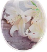 Сиденье для унитаза АкваЛиния SK-S8178 (лилии) -