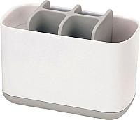 Стакан для зубной щетки и пасты Joseph Joseph EasyStore 70510 (белый/серый) -