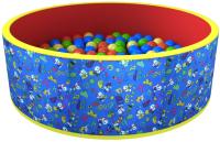 Сухой бассейн Romana Веселая поляна ДМФ-МК-02.51.04 (100 шариков, синий/красный) -