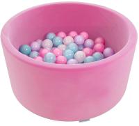 Сухой бассейн Romana Airpool Easy ДМФ-МК-02.53.03 (розовый, 150 шариков ассорти с серыми) -