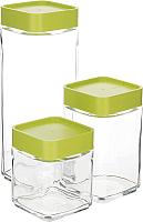 Набор контейнеров Glasslock IG-589/G (зеленый) -
