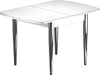 Обеденный стол Васанти Плюс БРФ 120/152x80/1Р (хром/белый) -