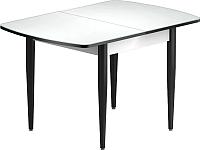 Обеденный стол Васанти Плюс БРФ 110/142x70/1Р (черный/белый) -