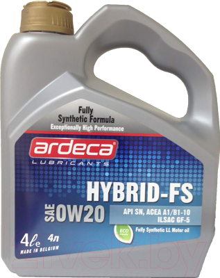Моторное масло Ardeca Hybrid-FS 0W20 / ARD010015-004 (4л)