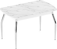 Обеденный стол Eligard Fly 2 / СБ2 (мрамор белый) -