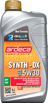 Моторное масло Ardeca Synth-DX 5W30 / P01151-ARD001 (1л)