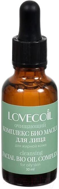 Купить Масло для лица LovEcOil, Очищающий комплекс био масел для лица для жирной кожи (30мл), Россия