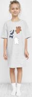 Сорочка детская Mark Formelle 577717 (р.128-64, светло-серый меланж) -
