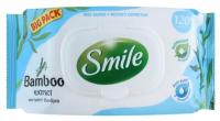 Влажные салфетки Smile Освежающие с экстрактом Бамбука С клапаном (120шт) -