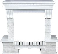 Портал для камина InterFlame Экстер ЕС ЛОФТ для Panoramic IF-EF01-25 (белый) -