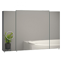 Шкаф с зеркалом для ванной Sanwerk Everest Zoom 100 3F / MV0000784 -
