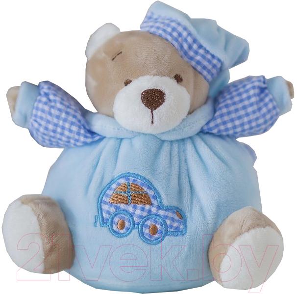 Купить Мягкая игрушка ComfortBaby, Мишка-мяч (голубой), Россия, полиэстер