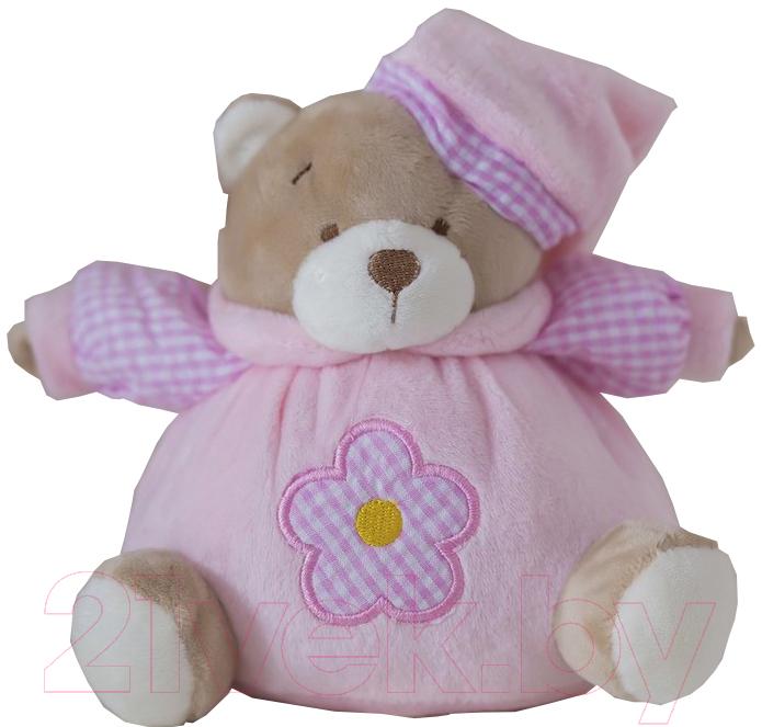 Купить Мягкая игрушка ComfortBaby, Мишка-мяч (розовый), Россия, полиэстер