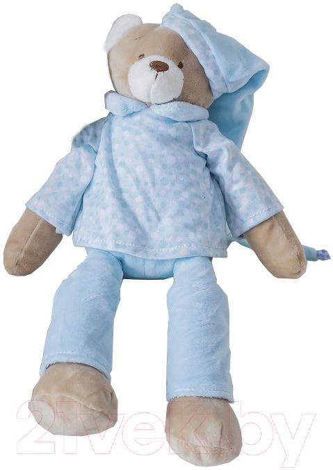 Купить Мягкая игрушка ComfortBaby, Мишка для сна (голубой), Россия, полиэстер