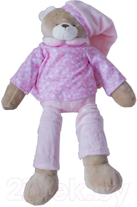 Купить Мягкая игрушка ComfortBaby, Мишка для сна (розовый), Россия, полиэстер
