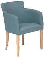 Кресло мягкое Tetchair Knez (натуральный бук/синий кварц) -