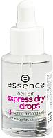 Сушка для лака Essence Express Dry Drops покрытие верхнее для быстрого высыхания лака -