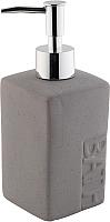 Дозатор жидкого мыла Bisk Bath 131106 (серый) -