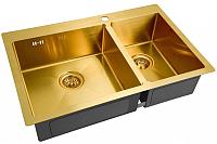 Мойка кухонная ZorG SZR 78-2-51 (Inox-PVD L бронза) -