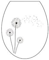 Сиденье для унитаза Berossi АС 15801090 (белый, одуванчик) -