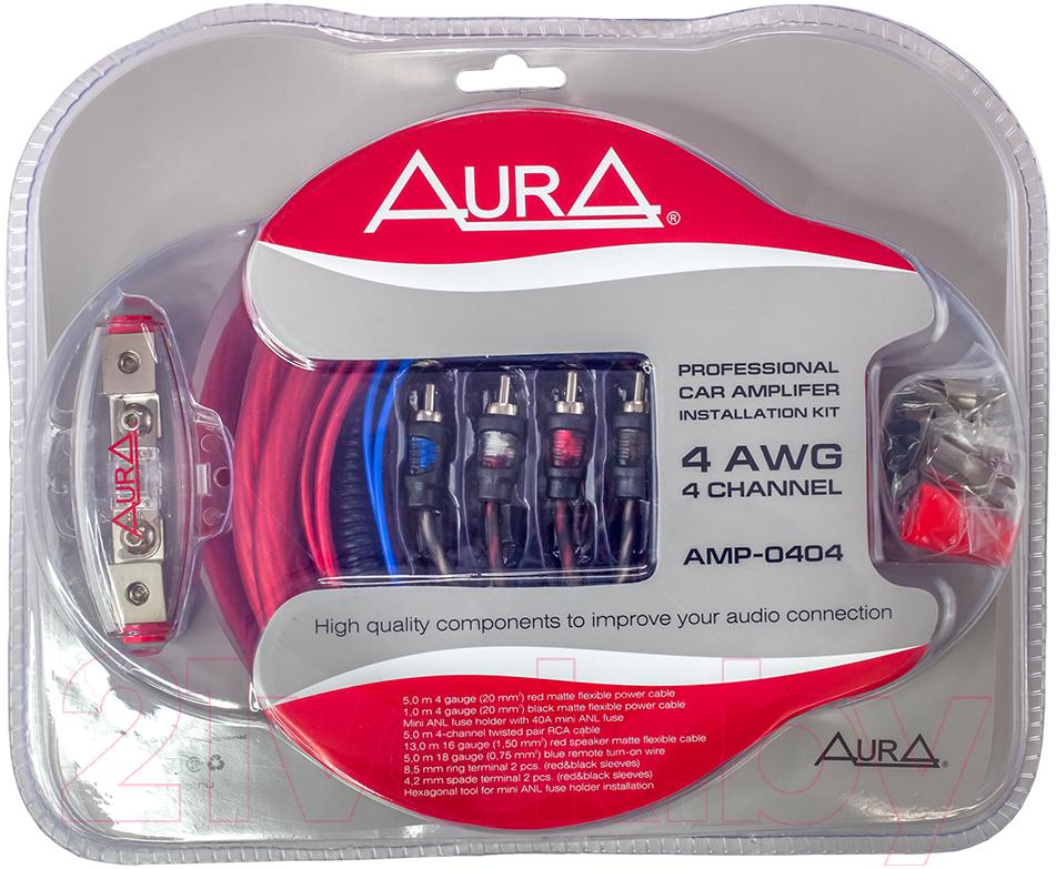 Купить Комплект проводов для автоакустики AURA, AMP-0404, Китай