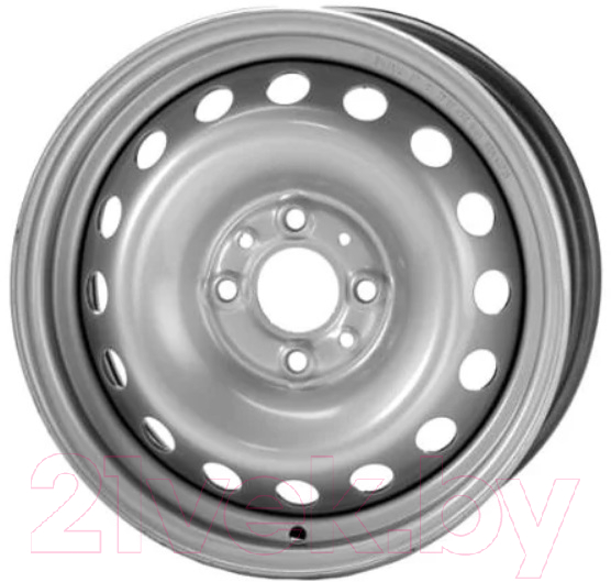 Купить Штампованный диск Trebl, 7915T 15x6 4x100мм DIA 56.6мм ET 43мм Silver, Китай