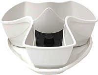 Кашпо Prosperplast Coubi Flower pot DKN3001-S449 (белый) -