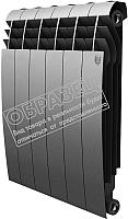 Радиатор биметаллический Royal Thermo Biliner 500 Silver Satin (8 секций) -