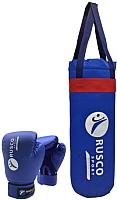 Набор для бокса детский RuscoSport 6oz (синий) -