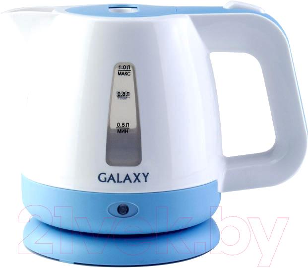 Электрочайник Galaxy, GL 0223, Китай, белый  - купить со скидкой