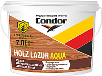 Защитно-декоративный состав CONDOR Holz Lazur Aqua (9кг, венге) -