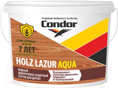 Защитно-декоративный состав CONDOR Holz Lazur Aqua (9кг, дуб)