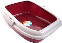 Туалет-лоток Ferplast Moderna / 72048099 (красный) -