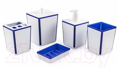 Купить Набор аксессуаров для ванной Berossi, Spacy АС 22310000 (синий полупрозрачный), Россия, пластик, Spacy (Berossi)
