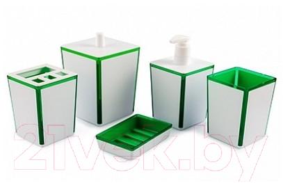 Купить Набор аксессуаров для ванной Berossi, Spacy АС 22311000 (зеленый полупрозрачный), Россия, пластик, Spacy (Berossi)