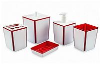 Набор аксессуаров для ванной Berossi Spacy АС 22312000 (красный полупрозрачный) -