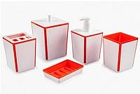 Набор аксессуаров для ванной Berossi Spacy АС 22350000 (оранжевый) -