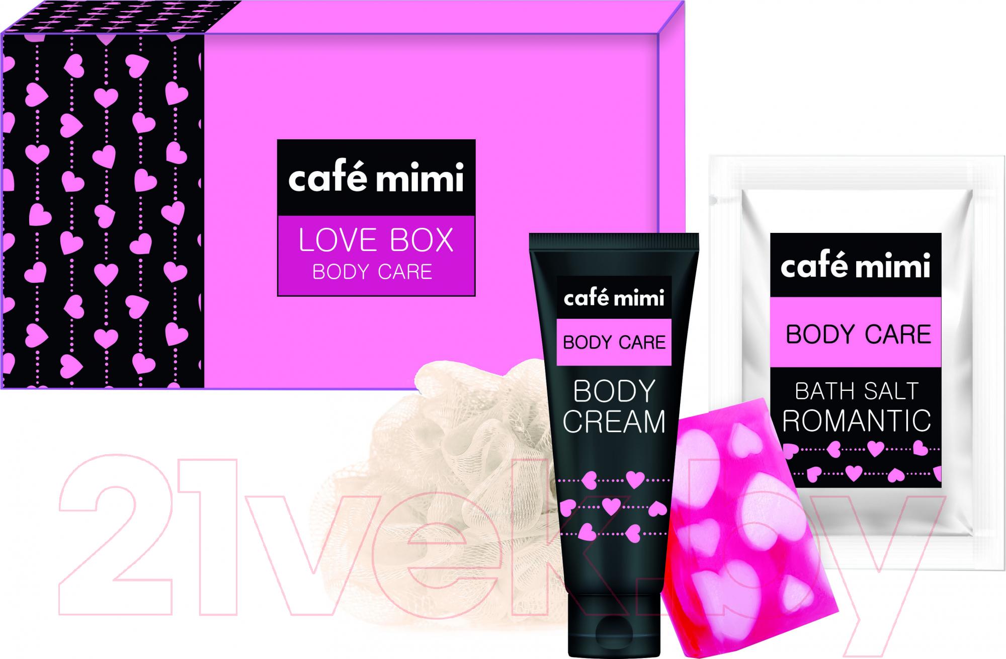 Купить Набор косметики для тела Le Cafe de Beaute, Mimi Love Box крем для тела 100мл + глицериновое мыло, Россия