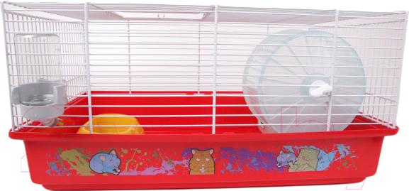 Купить Клетка для грызунов Ferplast, Criceti 9 Decor / 57009469W3 (красный), Италия
