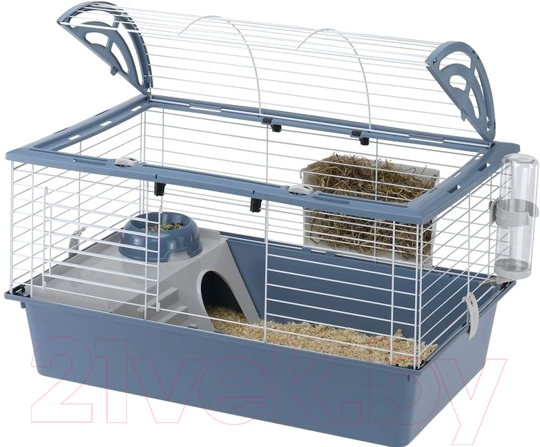 Купить Клетка для грызунов Ferplast, Casita 80 / 57065170 (синий), Италия, белый