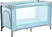 Кровать-манеж Caretero Basic (серый) -